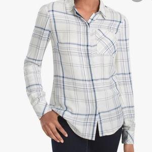 WHBM Cara Plaid Button-Down Shirt